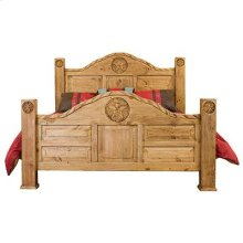 """King : 79"""" x 50"""" x 94"""" Rope and Star Bed"""