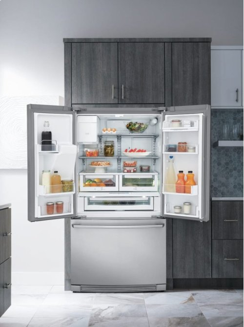 Counter-Depth French Door Refrigerator with Wave-Touch® Controls, Scratch & Dent