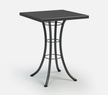 """30"""" Square Bar Table (with Hole) Ht: 40"""" Classic Steel Base (Model # Includes Both Top & Base)"""