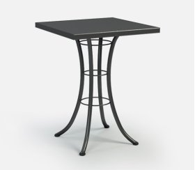"""30"""" Square Bar Table Ht: 40"""" Classic Steel Base (Model # Includes Both Top & Base)"""