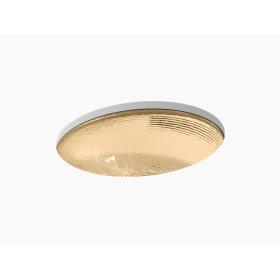 Translucent Sandalwood Glass Under-mount Bathroom Sink