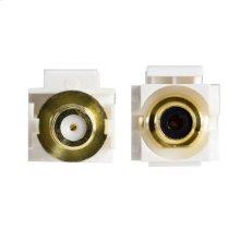 Recessed RCA-F Keystone Inserts - Black