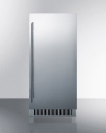 """15"""" Wide Built-in Undercounter Clear Icemaker With Stainless Steel Door and Internal Pump"""
