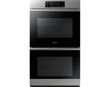 """30"""" Steam-Assisted Double Wall Oven, Graphite Stainless Steel"""
