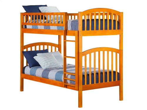 Richland Bunk Bed Twin over Twin in Caramel Latte