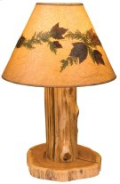 Table Lamp With Lamp Shade, Natural Cedar Product Image