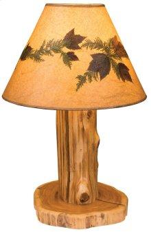 Table Lamp With Lamp Shade, Natural Cedar