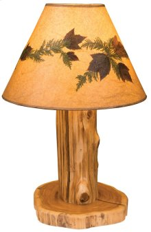 Table Lamp With Lamp Shade, Natural Cedar