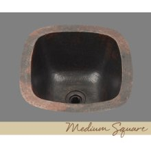 Solid Copper Bar Sink - Light Hammertone Pattern - Dark