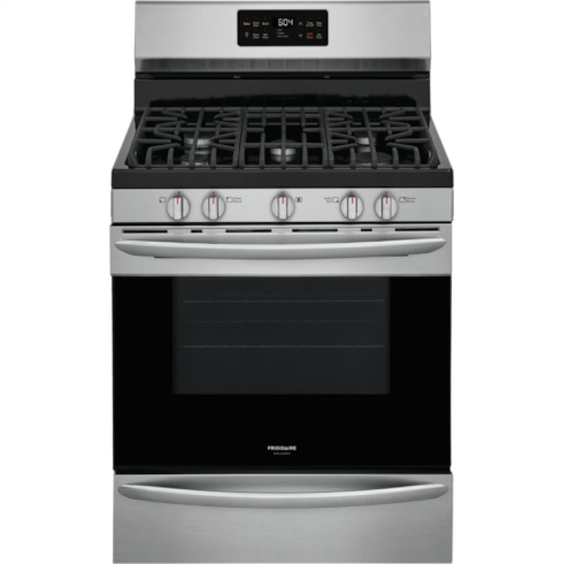 Gallery 30'' Freestanding Gas Range with Steam Clean