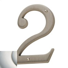 Polished Nickel with Lifetime Finish House Number - 2