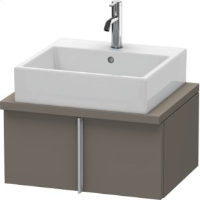 Vero Vanity Unit For Console Compact, Flannel Grey Satin Matt Lacquer