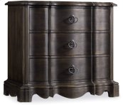 Corsica Dark Three Drawer Nightstand