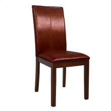 Curved Back Parson Chair-Red