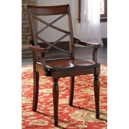 Double X Arm Chair