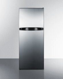 "9.8 CU.FT. Frost-free Refrigerator-freezer In 24"" Width, With Stainless Steel Doors and Black Cabinet\n"