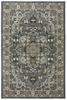 Rhodes Ash Grey Rectangle 6ft 6in X 9ft 6in