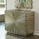 Linen Fold 2-Drawer Chest-Silver Product Image