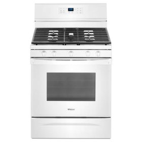 Whirlpool® 5.0 cu. ft. Freestanding Gas Range with Fan Convection Cooking - White