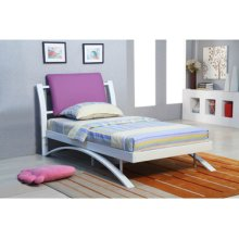 Twin Arch Bed with Purple Headboard