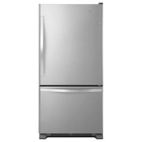 Stainless Steel Whirlpool® 22 cu. ft. Bottom-Freezer Refrigerator with Freezer Drawer