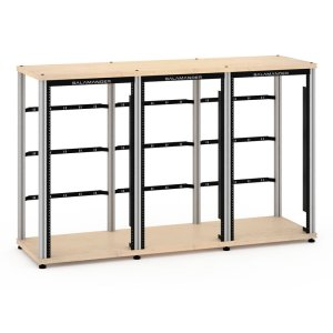 Salamander DesignsSynergy 40 Triple-Width, Pro Audio Core Module (63U Rack Mount Rails), Maple with Aluminum Posts