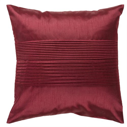 "Solid Pleated HH-026 22"" x 22"" Pillow Shell with Polyester Insert"