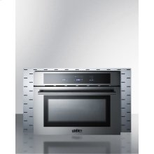 """Stainless Steel Trim Kit To Extend Width of Cmv24 Speed Oven To 30"""""""