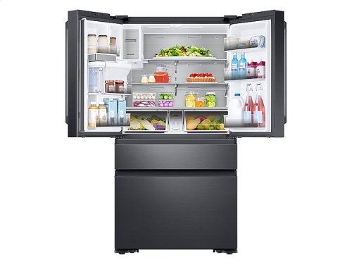 23 cu. ft. Capacity Counter Depth 4-Door French Door Refrigerator with Polygon Handles