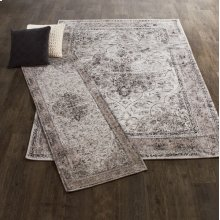 Black & Grey Antique Medallion 5' x 8' Jacquard Rug.