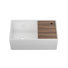 """Fira 093319 - undermount with apron front fireclay Kitchen sink with accessory ledge , 31 1/4"""" × 15 3/4"""" × 10"""" Product Image"""