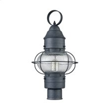 Onion 1-Light Outdoor Post Mount in Aged Zinc