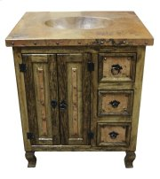"36"" Copper Vanity W/Drawers Product Image"