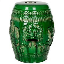 Chinese Dragon Stool - Green