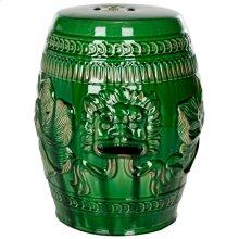 Chinese Dragon Stool - Green
