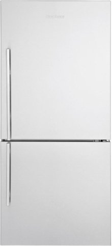 """30"""" Bottom Freezer/Fridge 18 cuft, wrapped stainless doors, stainless handles, right hinge"""