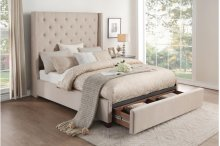 Queen Platform Bed with Storage Footboard