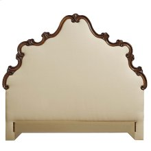 King Wood Scroll Uph Headboard