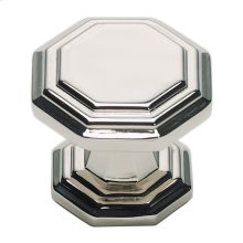 Dickinson Octagon Knob 1 1/4 Inch - Polished Nickel