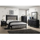 1007 Hollywood Queen Bed with Dresser & Mirror Product Image