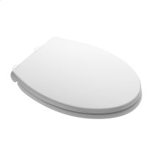 Luxury Slow Close Round Front Toilet Seat - White