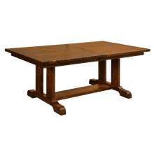 "Burwick Trestle Table w/2-12"" leaves (aproned)"