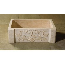 Versailles Farmhouse Sink Papiro Cream Marble