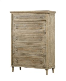 Emerald Home Interlude 5 Drawer 2 Jewelry Doors Chest Sandstone Finish B560-05