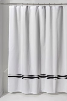 Marseille Shower Curtain with Stripe Detail 72 x 72 STYLE: MRSC02
