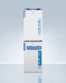 Ff511lbimed2 Vaccine All-refrigerator Stacked With Fs407lbimed2 Manual Defrost All-freezer, Both With Locks, Digital Controls, and Nist Calibrated Alarm/thermometers