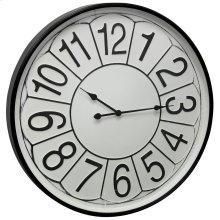 Metal & Glass Wall Clock  32in X 32in