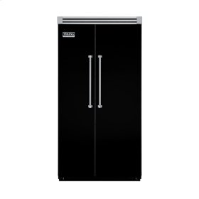 "Black 42"" Quiet Cool™ Side-by-Side Refrigerator/Freezer - VISB Tru-Flush™ (42"" wide)"