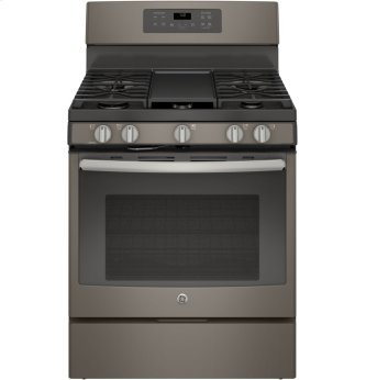 "GE 30"" Gas Freestanding Convection Range Slate JCGB700EEJES"