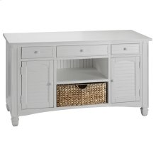 Nantucket 2-door 3-drawer Console Table In White With Basket